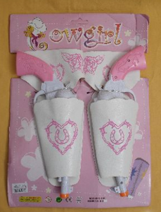 HappyTime Set of 2 Cowgirl Gun & Holster