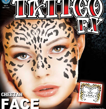 Carnival Cheetah Face Tattoo FX
