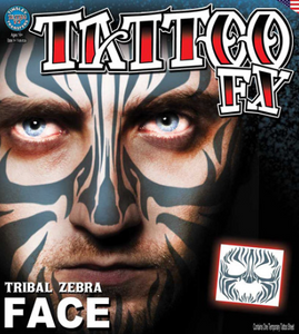 Carnival Tribal Zebra Tattoo FX
