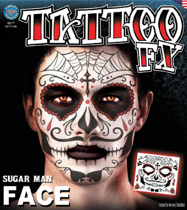 Carnival Sugar Man Face Tattoo FX