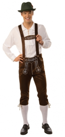 Tomfoolery Adult's Brown Lederhosen