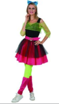 Interalia 80's Girl Costume