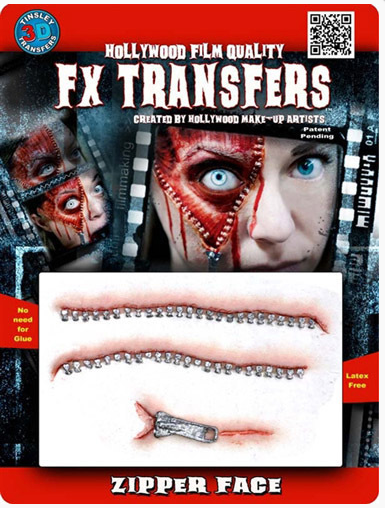 Tinsley FX Transfers - Zipper Face