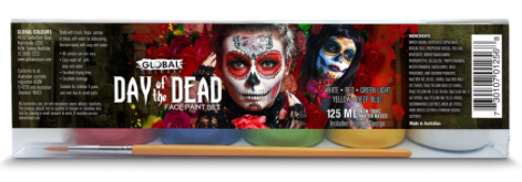 Global Day of The Dead Face Paint Set