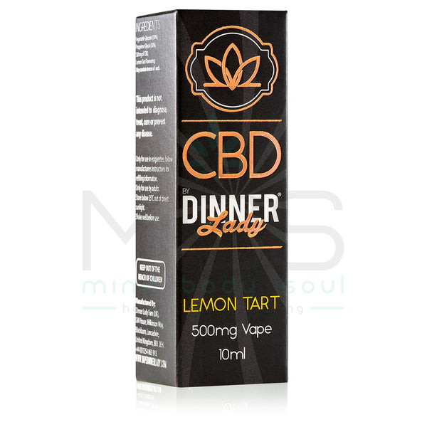 Dinner Lady CBD E Liquid - Lemon Tart (10ml) - MBS Health & Wellbeing