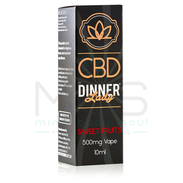Dinner Lady CBD E Liquid - Sweet Fruits (10ml) - MBS Health & Wellbeing