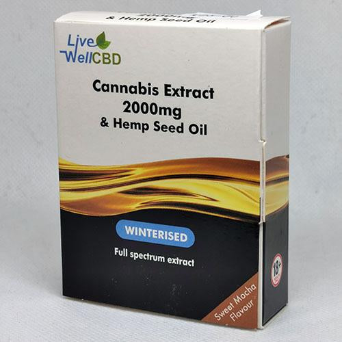 LV Well CBD WINTERISED Cannabis Extract & Hemp Seed Oil Mocha Flavour - MBS Health & Wellbeing
