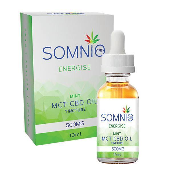 Somnio Energise CBD MCT Oil Tincture: MINT - 500mg (5%) - MBS Health & Wellbeing