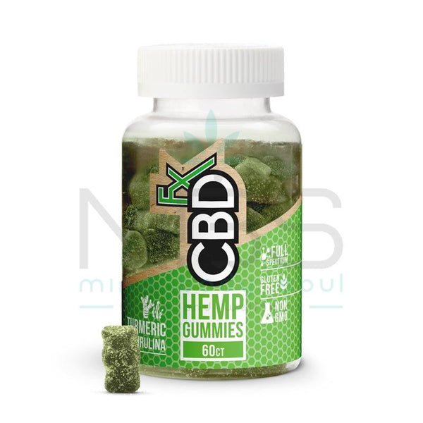 CBDfx Gummies with Turmeric and Spirulina 300mg - MBS Health & Wellbeing