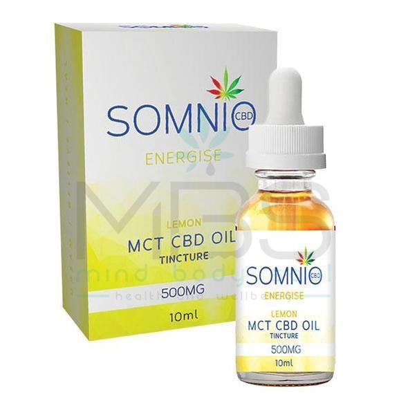 Somnio CBD MCT Oil Tincture: Lemon Haze - 500mg (5%) - MBS Health & Wellbeing