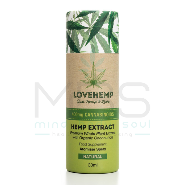 Love Hemp® CBD Oil Sprays – 400mg (2.5%) - MBS Health & Wellbeing