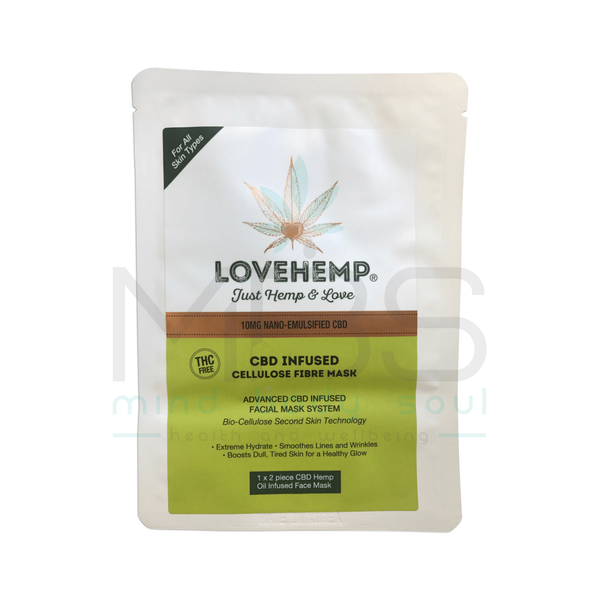 Love Hemp® CBD Infused Cellulose Fibre Mask – 10mg - MBS Health & Wellbeing