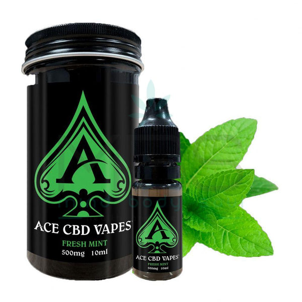 Ace CBD E-liquid - Fresh Mint (10ml) - MBS Health & Wellbeing
