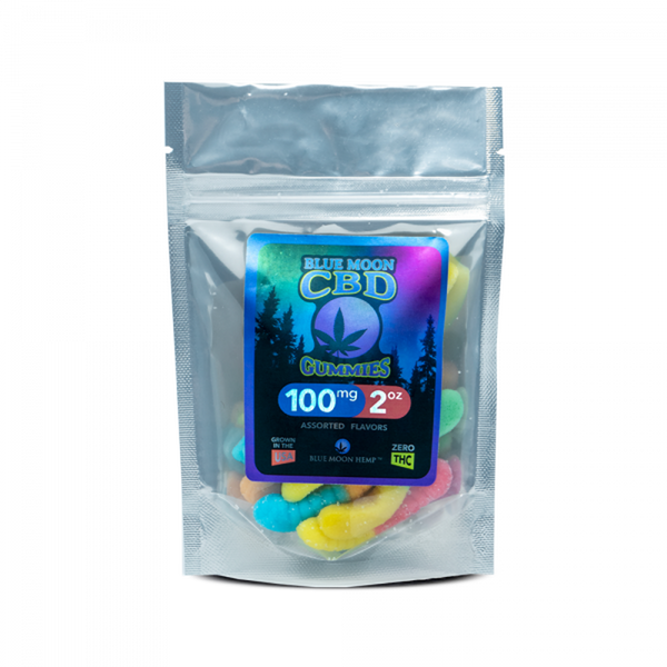 BLUE MOON CBD GUMMIES 100MG Assorted Flavour - MBS Health & Wellbeing