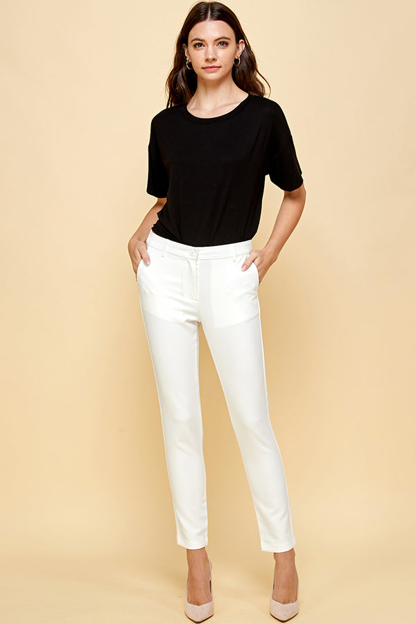 [Blue Age] Basic White Lightweight Pants
