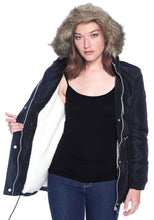 Load image into Gallery viewer, [Ambiance] Oversized Puff Jacket with Faux Fur Hoodie - Blueage Jeans