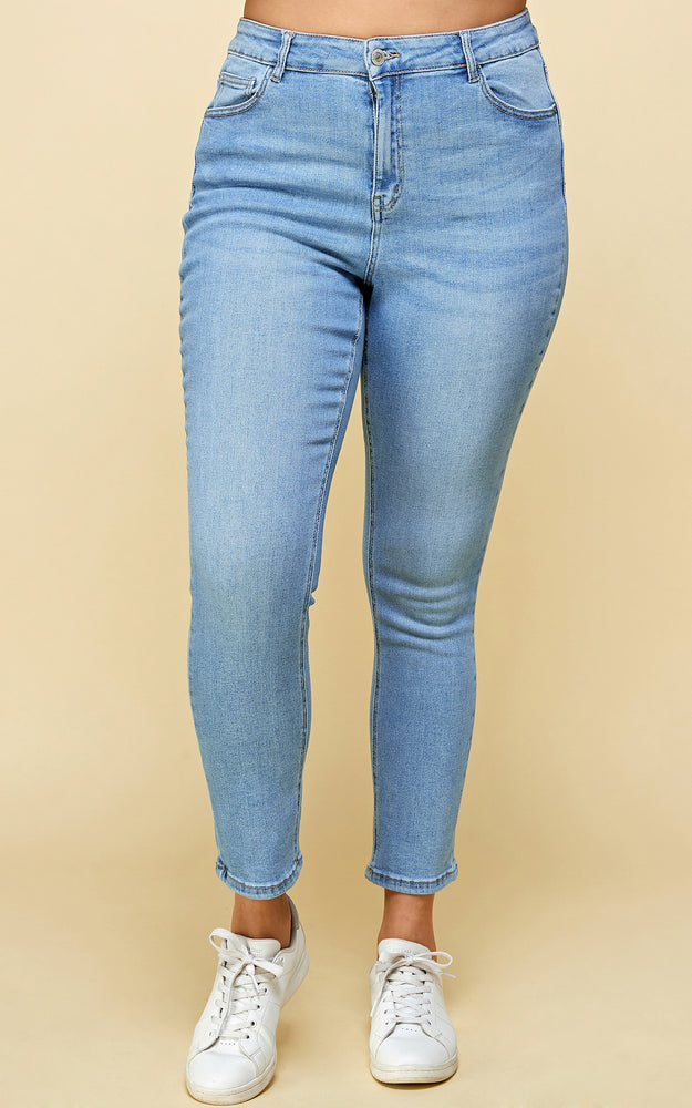 Load image into Gallery viewer, [Blue Age] High Rise Solid Fine Stretch Jeans in Plus Sizes