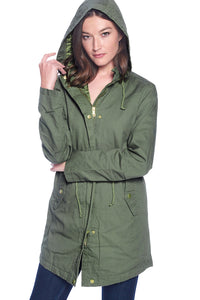 [Ambiance] Women's Oversized 100% Cotton Anorak Jackets - Blueage Jeans
