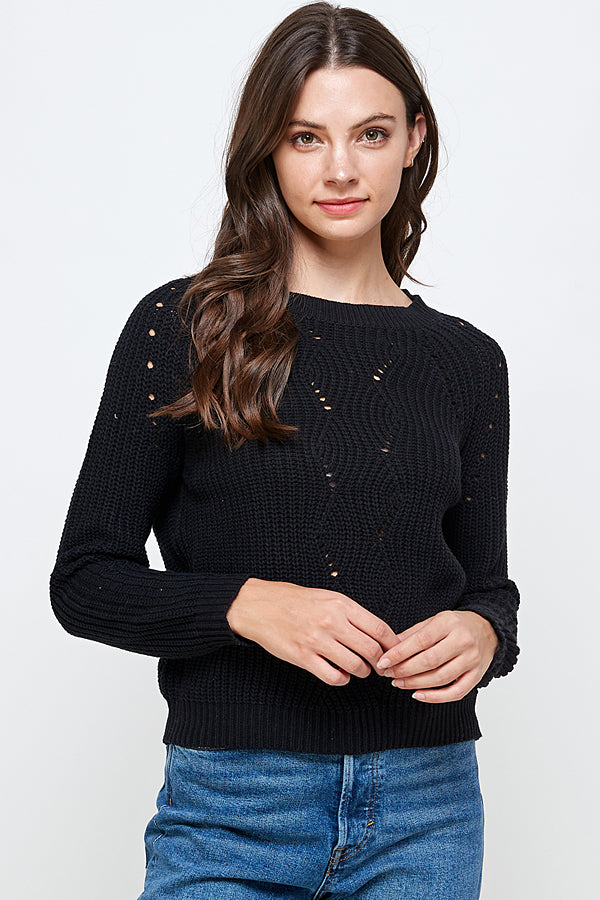 [Ambiance] Classic Cropped Sweater