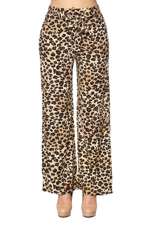Load image into Gallery viewer, [Ambiance] Ladies Leopard Palazzo Print Pants - Blueage Jeans