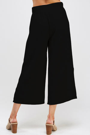 Load image into Gallery viewer, [Ambiance] Solid Light Weight Wide Leg Rayon Pants - Blueage Jeans