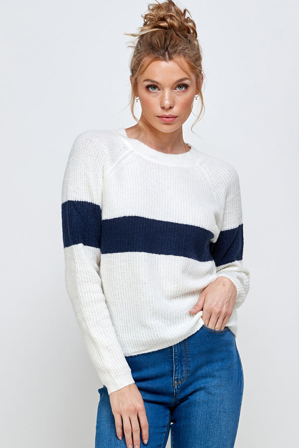 [Ambiance] Classic One Stripe Sweater