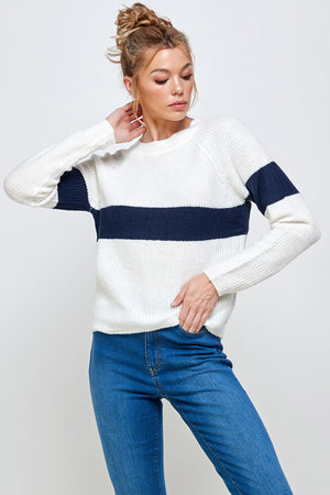 Load image into Gallery viewer, [Ambiance] Classic One Stripe Sweater