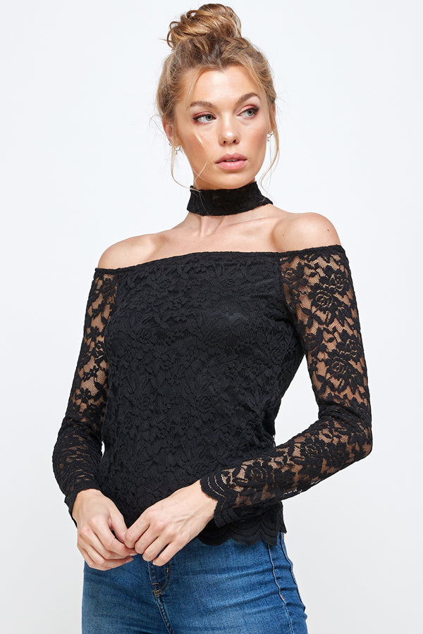 [Ambiance] Ladies Off Shoulder Blouse Top