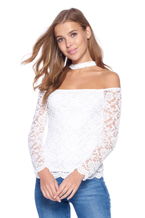 Load image into Gallery viewer, [Ambiance] Ladies Off Shoulder Blouse Top - Blueage Jeans