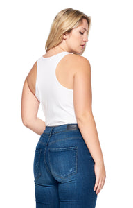 [Ambiance] Womens Tank Bodysuit in Plus Size - Blueage Jeans
