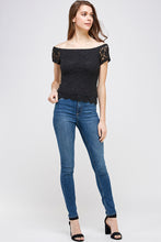 Load image into Gallery viewer, [Ambiance] Lady's Off Shoulder Blouse Top - Blueage Jeans
