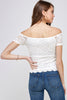 [Ambiance] Lady's Off Shoulder Blouse Top - Blueage Jeans