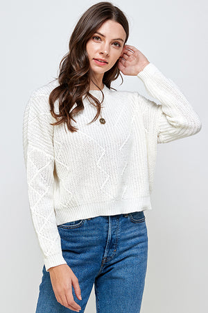 Load image into Gallery viewer, [Ambiance] Cropped Round Neck Sweater