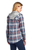 [Blue Age]Hoodied Plaid Flannel Long Sleeve Button shirts - Blueage Jeans