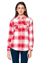 Load image into Gallery viewer, [Blue Age] Ladies Plaid Flannel Long Sleeve Button Shirts