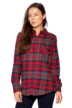 Load image into Gallery viewer, [Blue Age] Ladies Plaid Flannel Long Sleeve Button Shirt - Blueage Jeans