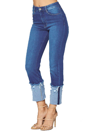 Load image into Gallery viewer, [Blue Age] Cuff Ankle Skinny Jeans - Blueage Jeans