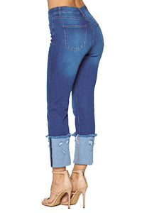 [Blue Age] Cuff Ankle Skinny Jeans - Blueage Jeans