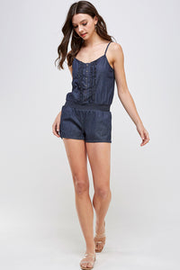 [Blue Age] Lightweight Romper Shorts - Blueage Jeans