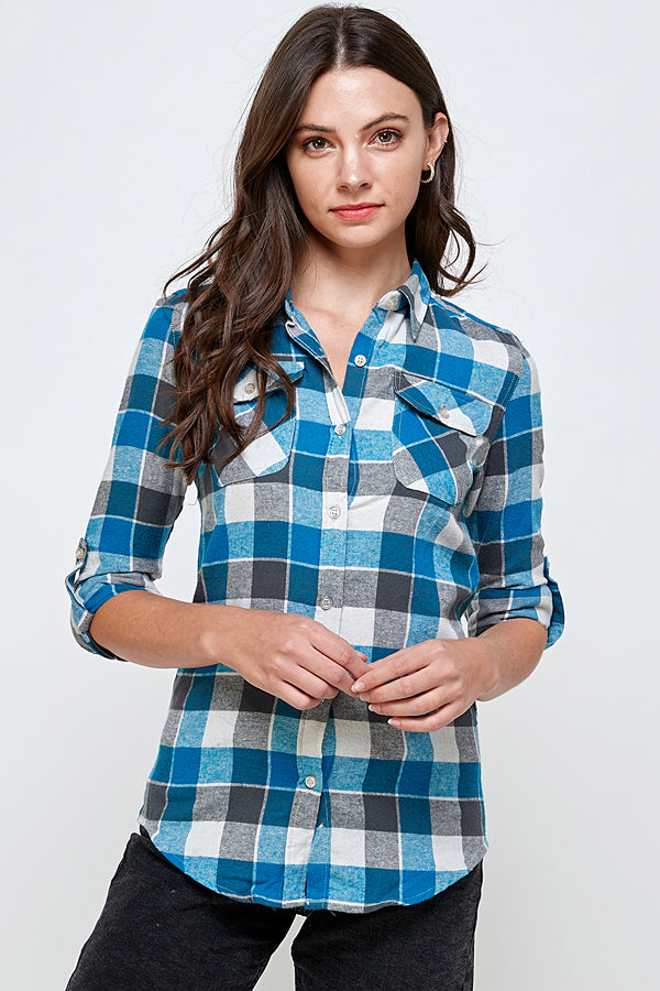 Load image into Gallery viewer, [Blue Age] Snap Button Plaid Shirts
