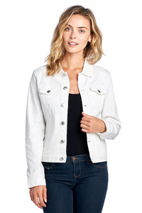 [Blue Age] Women's Colored Denim Jean Jacket - Blueage Jeans