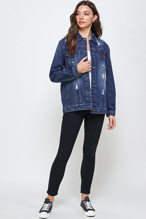 Load image into Gallery viewer, [Blue Age] Destroyed Casual Denim Jacket