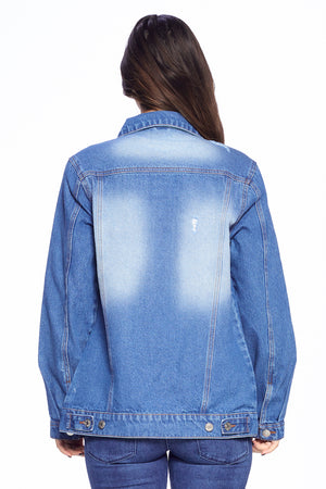 Load image into Gallery viewer, [Blue Age] Destroyed Casual Denim Jacket - Blueage Jeans