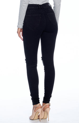 Load image into Gallery viewer, [Blue Age] Basic Solid Black Denim in Mineral Washed