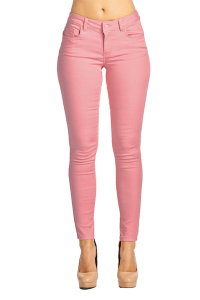 [Blue Age] Womens Pink Skinny Denim Jeans - Blueage Jeans
