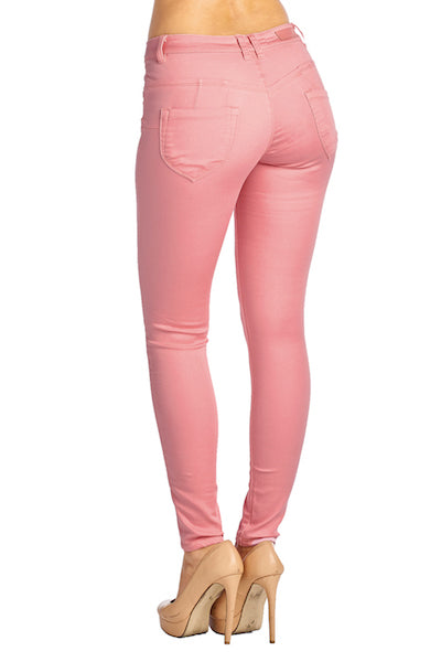 Load image into Gallery viewer, [Blue Age] Womens Mauve Skinny Jean Pants - Blueage Jeans