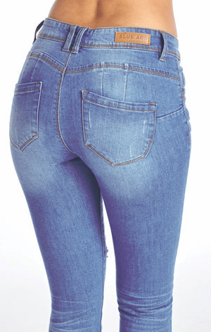 Load image into Gallery viewer, [Blue Age] Destroyed Skinny Jeans in Better Butt Designed - Blueage Jeans