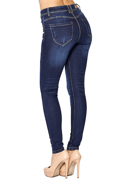Load image into Gallery viewer, [Blue Age] Destroyed Skinny Jeans in Better Butt Designed