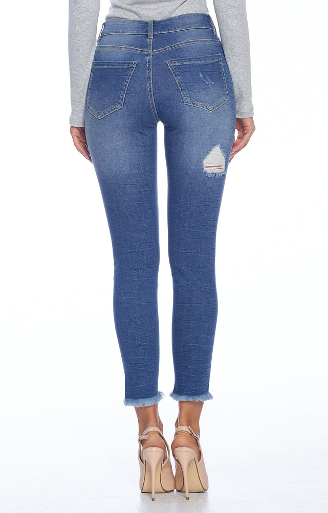 Load image into Gallery viewer, [Blue Age] Destroyed Jeans with Frayed Hem