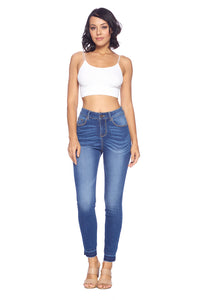 [Blue Age] Premium High Rise Solid Ankle Jeans - Blueage Jeans